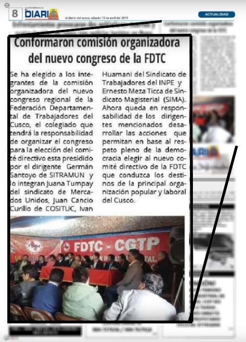 Conformaron comisión organizadora del nuevo congreso de la FDTC